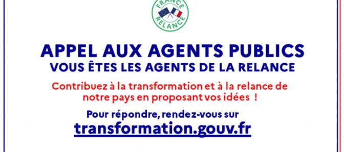 """Plan de relance : Le Gouvernement lance un appel aux agents publics, """"agents de la relance de la France"""""""