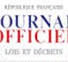 JORF -Communes reconnues en état de catastrophe naturelle